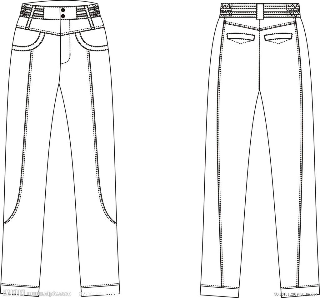 裤子简笔画素材